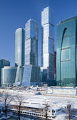 View on new Moscow City buildings in winter — Stock Photo