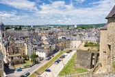 Bekijken op oude huizen in de stad sedan, frankrijk — Stockfoto