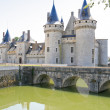 Towers of medieval chateau Sully-sur-loire, France — Stock Photo #8966468