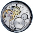 Stock Photo: Mechanism of old mechanical watch