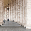 Colonnade on Sr.Peter square in Rome, - Stock Photo