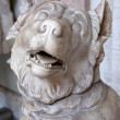 Antique marble dog sculpture — Stock Photo