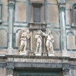 Fragment of east gate of Baptistery in Florence — Stock Photo
