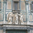 Stock Photo: Fragment of east gate of Baptistery in Florence