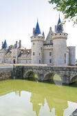 Towers of medieval chateau Sully-sur-loire, France — Stock Photo