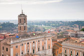 Panorama of old town Rome — Stock Photo
