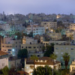 Living district Amman city at night — Stock Photo