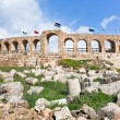 Wall of Greco-Roman city of Gerasa Jerash — Stock Photo