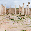 Ruins of ancient market house in antique town Jerash - Stock Photo