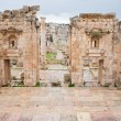 Stock Photo: View through antique Artemis temple in ancient city Gerasto modern Jerash