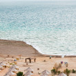 Sand beach on Dead Sea coast — Stock Photo