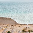 Stock Photo: Sand beach on Dead Sea coast