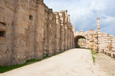 The Large South Theatre - in antique town Jerash, Jordan — Stock Photo