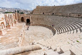 Large South Theatre - in antique town Jerash — Stock Photo