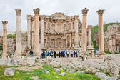 Facade of Artemis temple in ancient town Jerash — Stock Photo