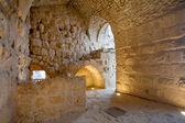 Inre rum i medeltida ajlūn slott, jordan — Stockfoto