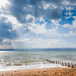 Stock Photo: Sunbeams above Dead Sea