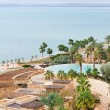 Panorama of resort on Dead Sea coast - Stock Photo