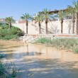 View on Jordan river in baptism site - Stock Photo