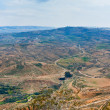 View from Mount Nebo in Jordan - Stock Photo