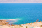 On sand beach of Dead Sea — Stock Photo