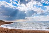 Sunbeams above Dead Sea — Stock Photo
