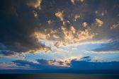 Dark blue sunset on Dead Sea — Stock Photo