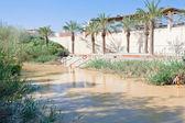 Auf jordans taufe-standort anzeigen — Stockfoto