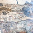Stock Photo: Ancient byzantine map of Holy Land, Madaba