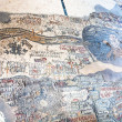 Ancient byzantine map of Holy Land, Madaba - Lizenzfreies Foto
