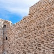 Brick stone wall of  Kerak castle, Jordan — Stock Photo
