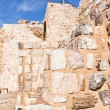 Brick stone inner wall of Kerak castle, Jordan — Stock Photo