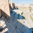 Stock Photo: Walls of crusader castle Kerak, Jordan