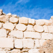 Brick stone inner wall of ancient  Kerak castle, Jordan — Stock Photo