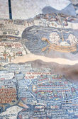Ancient byzantine map of Holy Land, Madaba — Stock Photo