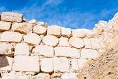 Brick stone inner wall of ancient Kerak castle, Jordan — Stock Photo