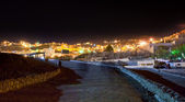 Night panorama of town Wadi Musa, Jordan — Stock Photo