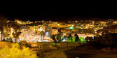 Night view of town Wadi Musa, the closest town to the Petra, Jordan — Stock Photo