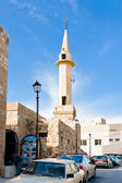 Minaret in jordanian town Kerak — Stock Photo