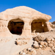 Stone cave home in Bab as-Siq in Petra — Stock Photo
