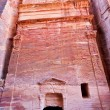 Nabatean tombs in the Siq, Petra — Stock Photo