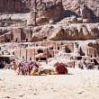 Bedouin camp on Street of Facades, Petra, Jordan — Stock Photo #9930285