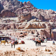 Stock Photo: Bedouin camp on Street of Facades, Petra, Jordan