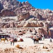 Bedouin camp on Street of Facades, Petra, Jordan — Stock Photo #9930297