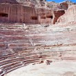 Ancient Nabatean Theater in Petra - Stock Photo