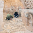 Restoration works in Byzantine church in Petra — Stock Photo