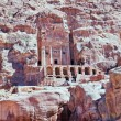 Front view on Urn Tomb Cathedral in Petra — 图库照片 #9930477