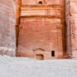 Nabatean tomb in the Siq, Petra — Stock Photo