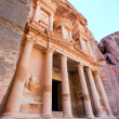 Facade of The Treasury Monument in antique city Petra — Stock Photo #9930507