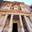 Stock Photo: Facade of The Treasury Monument in antique city Petra